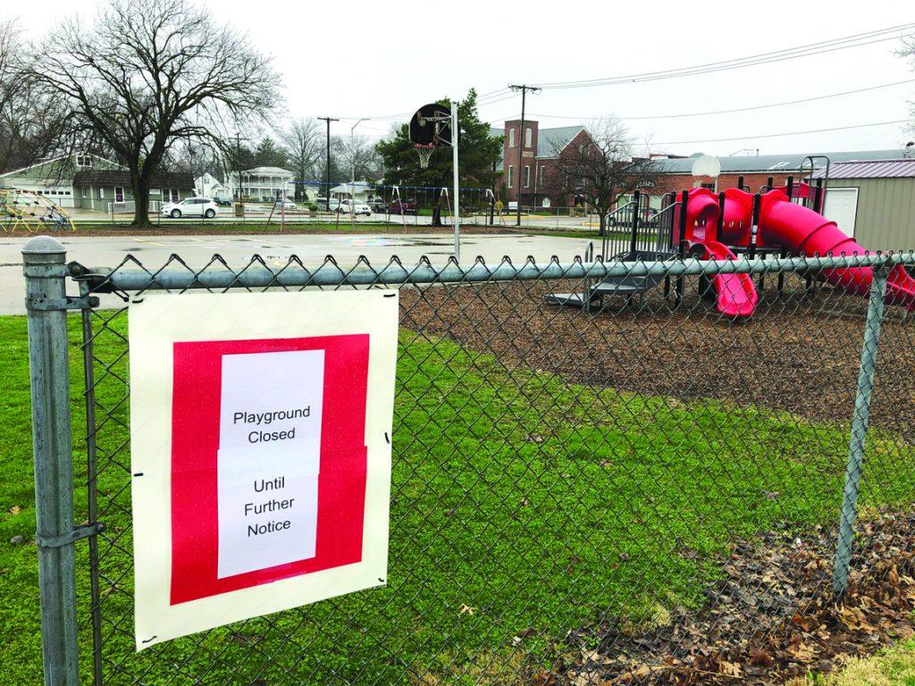 AGC playground closed sign